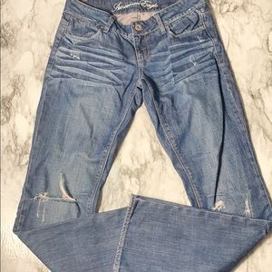 American Eagle Distressed 77 Straight Leg Jeans 4